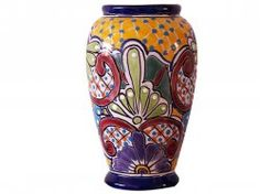 Talavera Vase - checkout this unique Talavera Vase from the famous Mexican potter. Explore a whole new range of Mexican Talavera potteries at Craft Montaz. Fresh arrivals in May 2012. $80 and Free Shipping!  www.craftmontaz.com