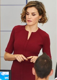 Queen Letizia attend opening of vocational training course