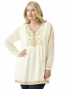 Fairy Princess Tunic by Ulla Popken Plus Size Tops, Plus Size Women, Full Figured Women, Fairy Princesses, Cool Style, My Style, Plus Size Beauty, Dress To Impress, Plus Size Outfits