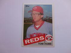 Tom Hume 1985 Topps Baseball Card.