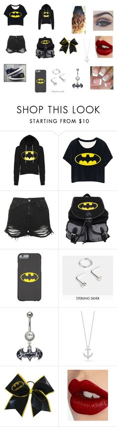 """batman"" by livy-6754 on Polyvore featuring Topshop, Converse, ASOS, Roberto Coin, Charlotte Tilbury, women's clothing, women's fashion, women, female and woman"