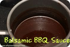 Balsamic BBQ Sauce (Paleo!) - this would go great as the sauce in a freezer meal!