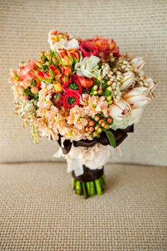 Best Wedding Bouquets of 2014 ~ Julie Irene Photography, Ooh La La Designs | bellethemagazine.com