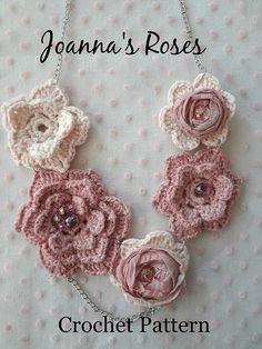 Ravelry: Joanna's Roses Necklace pattern by Maya Kuzman