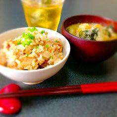 和食あさごはん ! - 19件のもぐもぐ - 炊き込みご飯、豚汁 by noxx