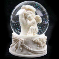 Sleeping Cherub Snow Globe Ornament - In My Mind's Eye: New Age ...