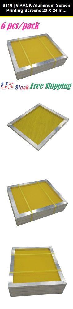 3d128c16abb Screen Printing Frames 183114  6 Pack Aluminum Screen Printing Screens 20 X  24 Inch With