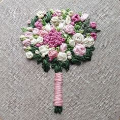 Wonderful Ribbon Embroidery Flowers by Hand Ideas. Enchanting Ribbon Embroidery Flowers by Hand Ideas. Basic Embroidery Stitches, Embroidery Flowers Pattern, Rose Embroidery, Embroidery Needles, Silk Ribbon Embroidery, Hand Embroidery Designs, Embroidery Techniques, Embroidered Flowers, Cross Stitch Embroidery