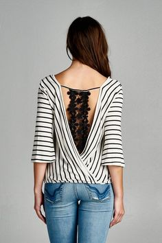 cut out with stripes