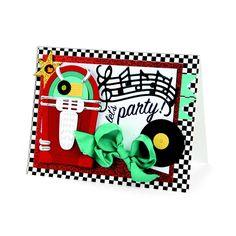 Jukebox Party Card by Debi Adams - Scrapbook.com