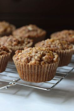 Pumpkin Muffins with Brown Sugar Pecan Streusel