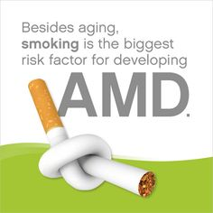 We all know that smoking can cause a lot of #health issues. But did you know smoking can affect your #vision? #AMD