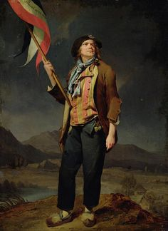 French Painter: Louis Leopold Boilly,     'Sans Cullote'  October 14, 1792
