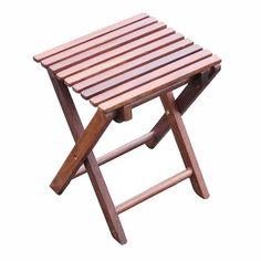 Klapphocker Holz, 30x26,5x37cm