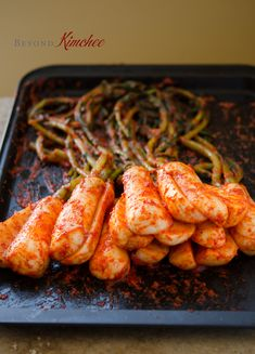 Bachelor Kimchi is a unique radish kimchi with full robust flavor and irresistible crunch texture.