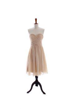 pretty strapless sweetheart chiffon dress