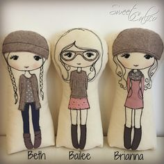 Image of Bailee and friends - ready made dolls