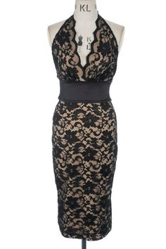Black lace over nude. ITS JUST SO SEXY! I have put up a picture of this dress in white so you can see how lovely it looks on a model xx . What a showstopper of a dress! Pin Up Dresses, Dressy Dresses, Burlesque, Party Skirt, Wiggle Dress, Dress Cuts, Casual Party, Stunning Dresses, Up Girl
