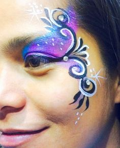 Elegant Adult Face Painting eye design by yogishenna.com