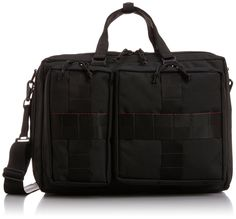 "Amazon | (ビームスプラス) BEAMS PLUS / BRIEFING×BEAMS PLUS / 別注 ""3WAY BAG"" 11610950106 19 (BLACK/ONE SIZE) 