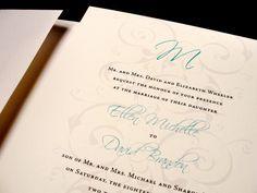 Forever Flourish Monogram Custom Color Wedding Invitation Spring Summer Fall Winter Monogram by PrEttYLiLNoTeS, $2.50 www.prettylilnotes.com