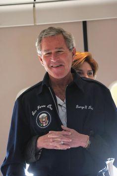 American President George Bush & First Lady Laura Bush