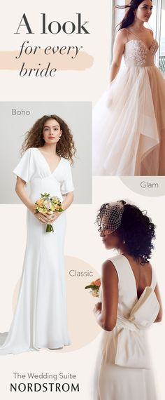 No matter your style, there is a look for you at the Nordstrom Wedding Suite. From classic styles to boho vibes to sparkly glam touches, find the gown that will complete your big day.