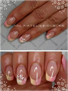 Nageldesign rosa-gelb Galerie Bilder Naildesign Does my Child need Therapy? Spring Nail Colors, Spring Nails, Summer Nails, Summer Colors, Nail Art French, French Tip Nails, Love Nails, Pretty Nails, My Nails
