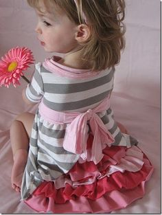 Beautiful! jersey knit dress tutorial -great way to recycle a lot of t-shirts-