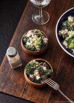 Broccoli and feta cheese salad