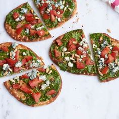 Love at-home pizza but not making the dough? Flatbread to the rescue! This one is easy and delicious and comes together with just six ingredients.-Visit PaneraBread.com for more inspiration.