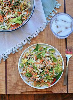 goi ga . . . vietnamese spicy chicken + cabbage salad • girl cooks world