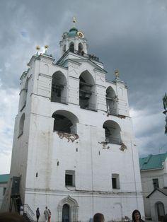 The belfry tower of the Spaso-Preobrazhensky Monastery, Yaroslavl, Russia