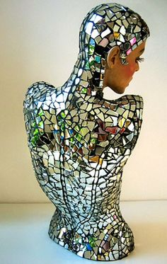 Mirror Mannequin by Sally Kendall Mosaics.