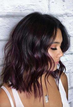 Your Plum Hair Color Guide: 57 Posh Plum Hair Color Ideas & Dye Tips Hair Color plum hair color Plum Hair Dye, Ombre Hair, Dyed Hair, Dyed Tips, Hair Dye Tips, Hair Color Shades, Hair Color Dark, Plum Color, Hair Color Ideas For Dark Hair