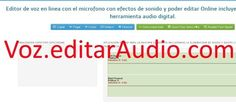 Editar Voz Microfono Online