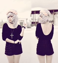 Black Swan (by Ami †) http://lookbook.nu/look/4413509-Black-Swan and like OMG! get some yourself some pawtastic adorable cat shirts, cat socks, and other cat apparel by tapping the pin!