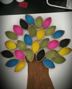My attempt at a toilet roll tree art  #toiletroll #tree #funart