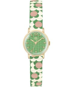 Signature Orla Kiely style, stainless steel expandable strap with colourful petal detail on the dial & strap. Crafted with precision for a sophisticated and elegant style. Orla Kiely Watch, Bracelet Watch, Jewels, Watches, Pop, Lady, Flowers, Accessories, Style