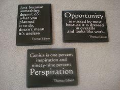 DIY wall art: Rainy Tuesday Mornings: Edison Quotes
