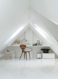 I've just discovered that some of my favourite lifestyle images on Pinterest all originate from this monochrome family townhouse in Copenhagen.