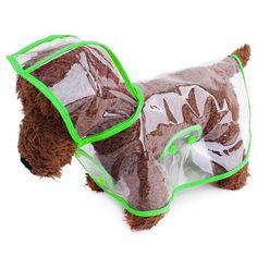 Puppy Dog Raincoat Waterproof Jacket Pet Rainwear Clothes For Small Dog Cat Fun  #PetShop
