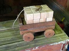 Blocks in Pull Toy Wagon by ChalkBlocks on Etsy, $40.00