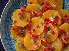 オレンジとざくろのミントサラダの画像