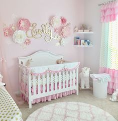 Pink nursery ideas a pink and gold nursery for baby pink baby rooms ideas . Girl Nursery Themes, Nursery Room, Baby Nursery Ideas For Girl, Baby Girls, Nursery Name Decor, Child's Room, Baby Room Design, Baby Room Decor, Nursery Design