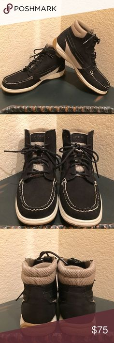Sperry Top Sider Langley Black High Tops Sperry Top Sider Langley Black High Tops. New in Box. Never worn. Please no offers. Price is FIRM!! Sperry Top-Sider Shoes Ankle Boots & Booties