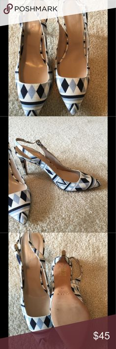 """J Crew Slingback Size, 7.5, heel 3.5"""", reposh too small, would fit a size 7 better J. Crew Shoes Heels"""