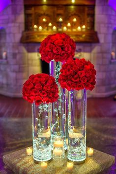 Cleveland Wedding Planner is part of Red wedding decorations - Quince Centerpieces, Quince Decorations, Quinceanera Centerpieces, Red Centerpiece Wedding, Red Table Decorations, Flower Ball Centerpiece, Fishbowl Centerpiece, Red Flower Arrangements, Sweet 16 Centerpieces