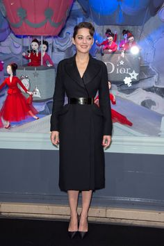 Christian Dior black wool coat from the Fall 2012 Couture collection.