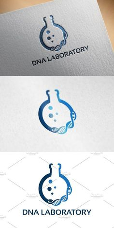 DNA Laboratory Logo designs Template. Logo Templates